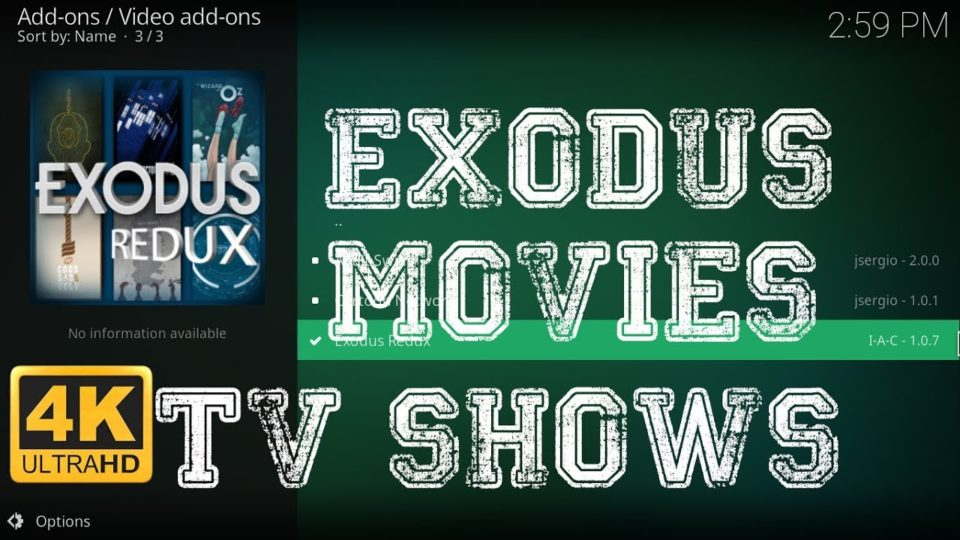 how to get tv shows on exodus