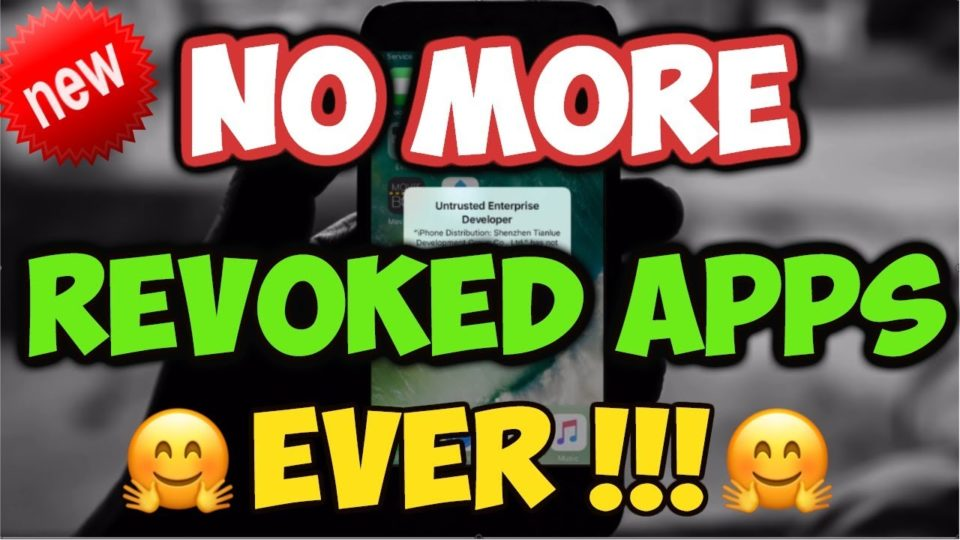 NEW How To STOP Apps Getting Revoked / Crashing iOS 9 / 10 / 11 NO