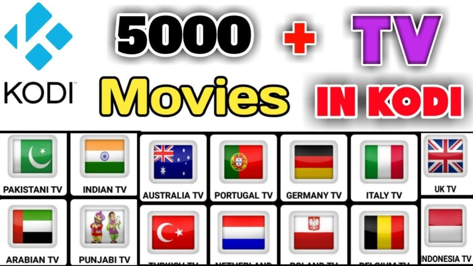 5000+ Tv Channels & Unlimited Movies In Kodi - Install the