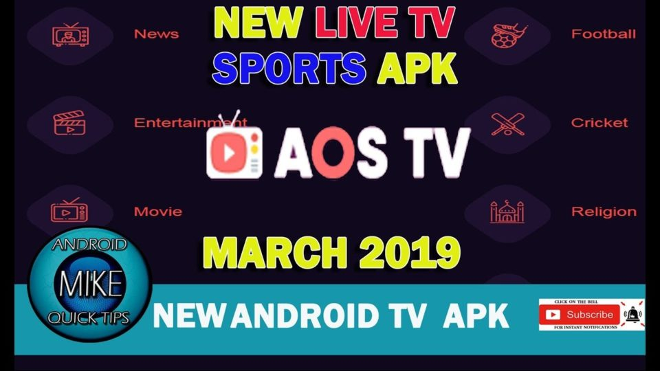 AOS Live Android TV APK New APK for 2019 - Install the