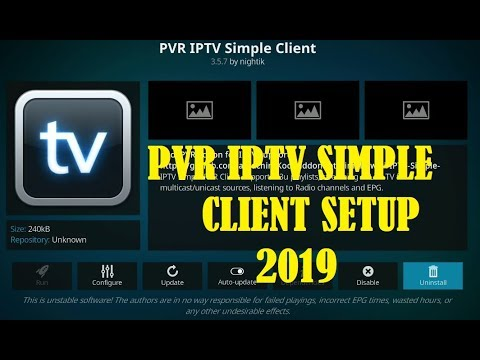 how to setup PVR IPTV Simple Client April 2019 - Install the