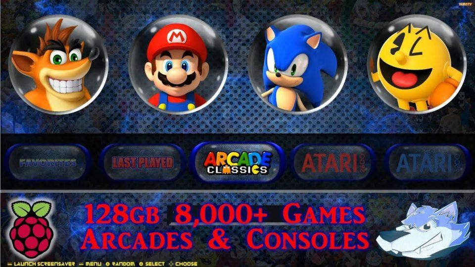 128gb Arcade Classics & Retro Consoles All In One - Retropie