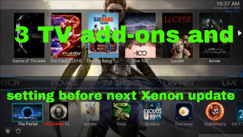 3 TV add-ons and a quicky setting before the next Xenon
