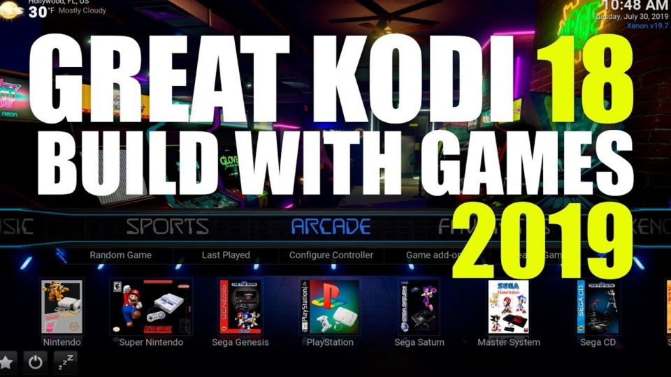 GREAT KODI 18 BUILD | WITH ARCADE GAMES | FIRESTICK & TV