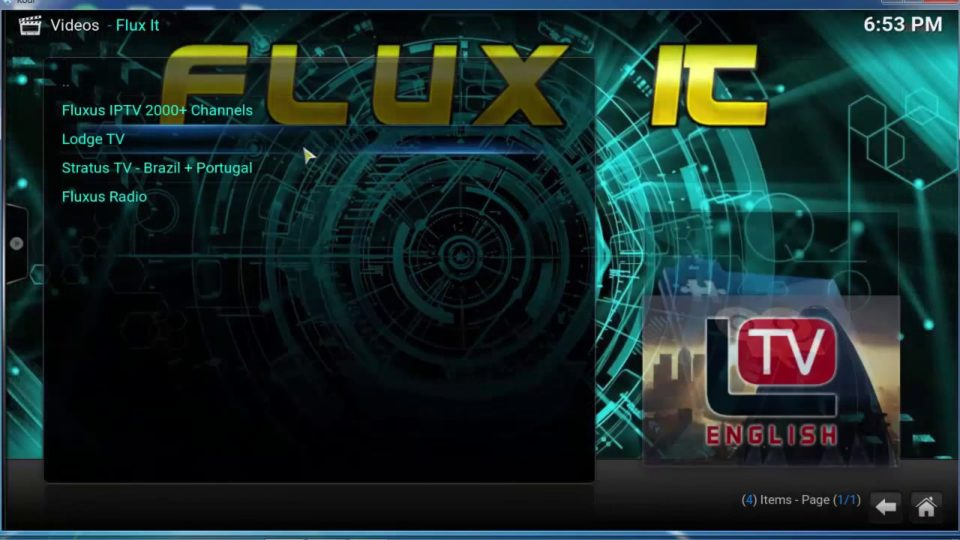 Flux It ANEW FREE TV ADDON FOR KODI -AGUST 10- 8 -2019 - Install the