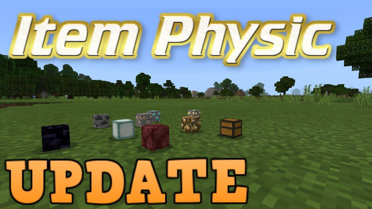 Minecraft Bedrock Edition Item Physics Addon UPDATE Install the Latest Kodi